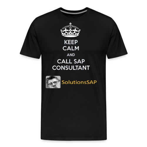 Keep Calm Solutionssap - Camiseta premium hombre