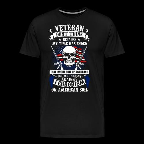 Veteran soldier terror terrorism skull army usa us - Männer Premium T-Shirt