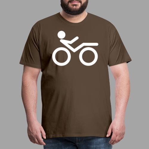 Recumbent bike white 2 - Miesten premium t-paita