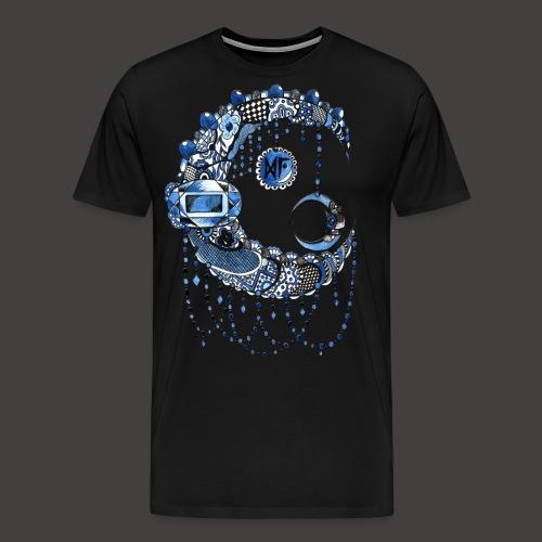 Lune dentelle bleue fonce - T-shirt Premium Homme