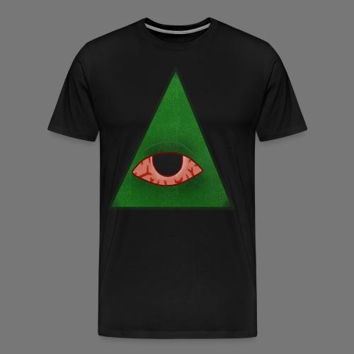 illuminati eye - Camiseta premium hombre