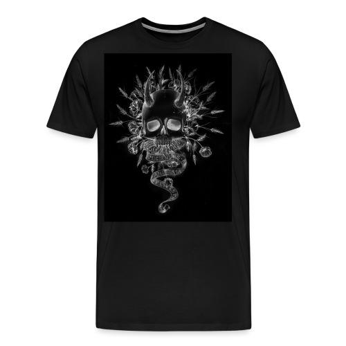 artworkSkull and flowers tshirt print negative - Men's Premium T-Shirt