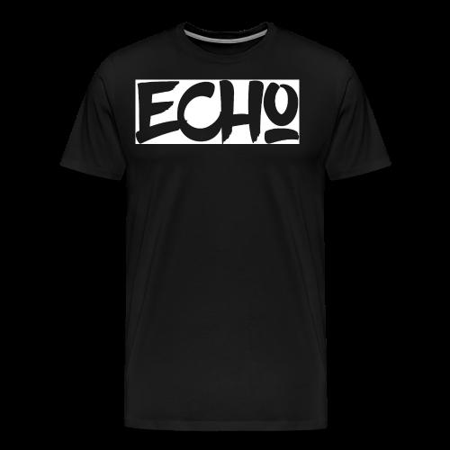 Echo_White_Design - Männer Premium T-Shirt