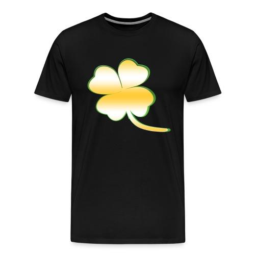 Kleeblatt Glück gold - Männer Premium T-Shirt