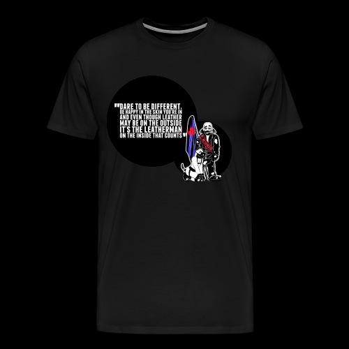 Mr Leather UK 2017 with Slogan - Men's Premium T-Shirt