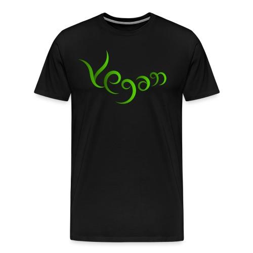 Vegaani käsinkirjoitettu design - Miesten premium t-paita