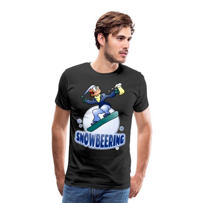 Snowbeering ou la planche à neige - T-shirt Premium Homme