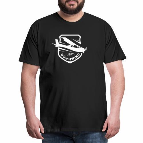 Left Downwind badge logo white - Men's Premium T-Shirt