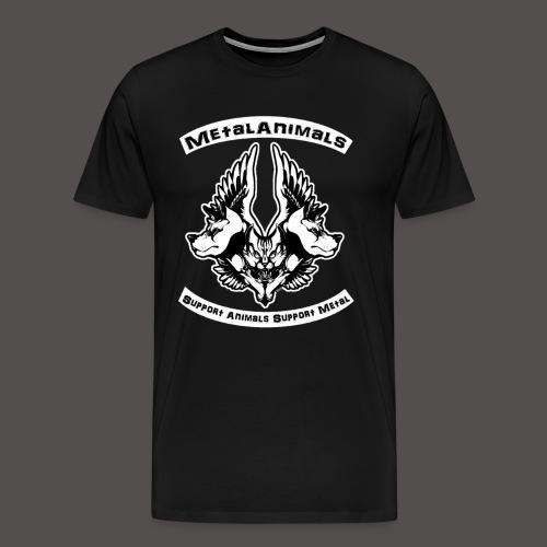 Logo Officiel MetalAnimals - T-shirt Premium Homme
