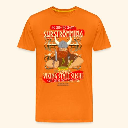 Surströmming Challenge Viking Sushi T-Shirt - Männer Premium T-Shirt