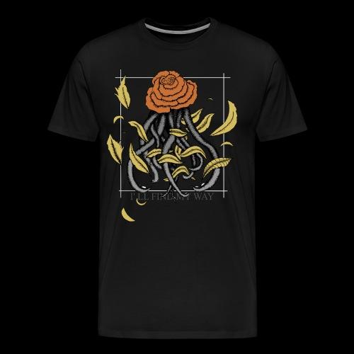 Rose octopus - T-shirt Premium Homme