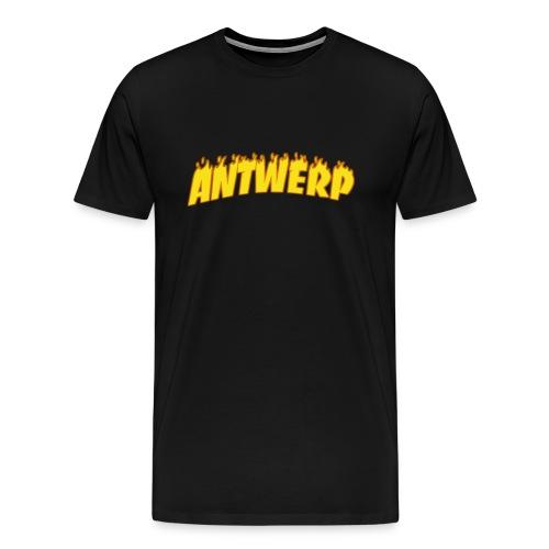 Antwerp T-Shirt Black (Flame logo) - Mannen Premium T-shirt