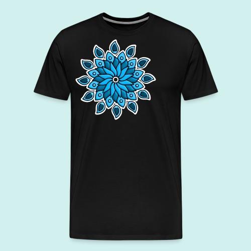 Mandala Blüte blau - Männer Premium T-Shirt