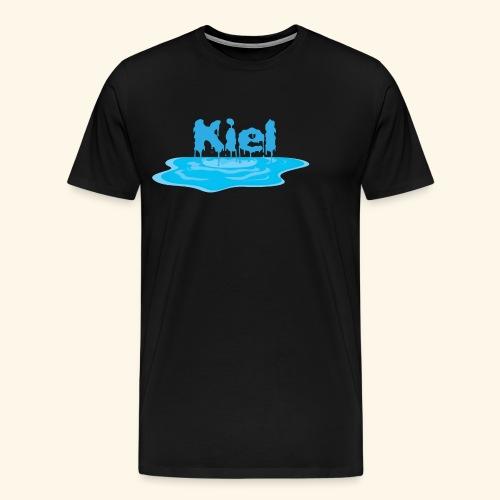 Kiel Tropfend Design Wasser Schrift - Männer Premium T-Shirt