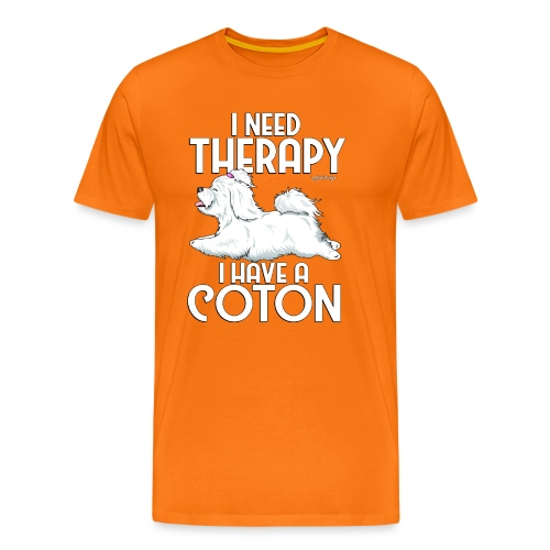 Coton De Tuléar Therapy0 - Men's Premium T-Shirt