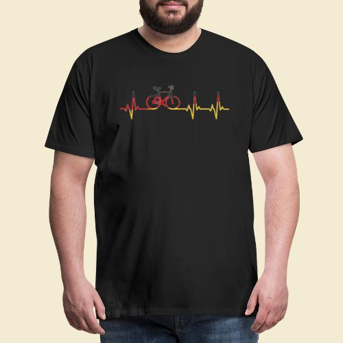 Kunstrad | Artistic Cycling Heart Monitor Germany - Männer Premium T-Shirt