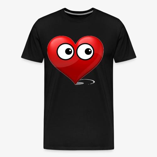 cœur avec yeux - T-shirt Premium Homme