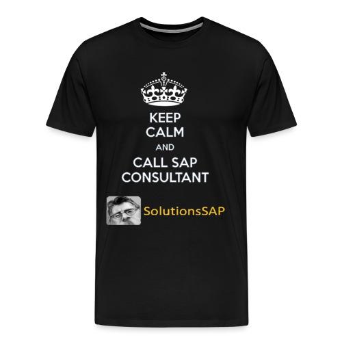 Keep Calm Solutionssap - Camiseta premium hombre