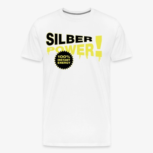 SilberPower! - Herre premium T-shirt