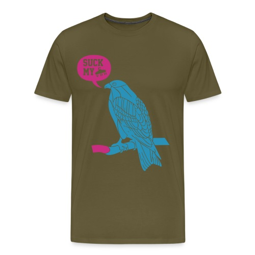 vogel suck my vdh - Mannen Premium T-shirt