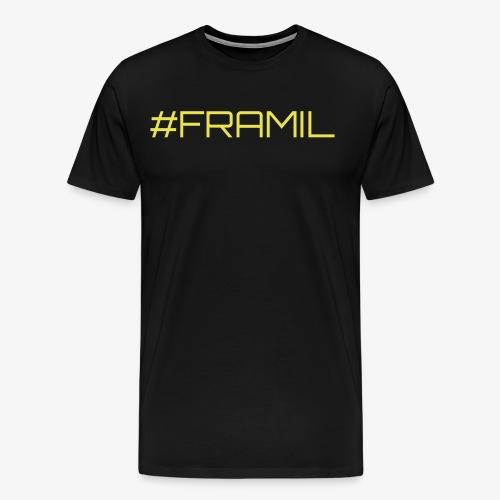 #framil - Miesten premium t-paita