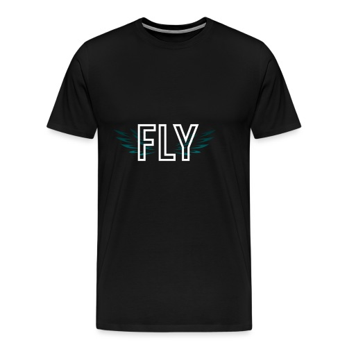Wings Fly Design - Men's Premium T-Shirt