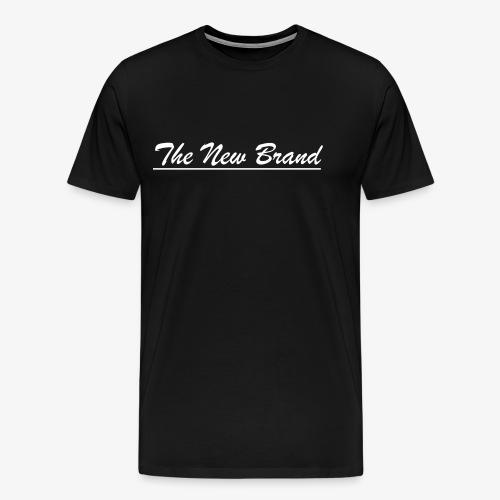 TheNewBrand logo wit - Mannen Premium T-shirt