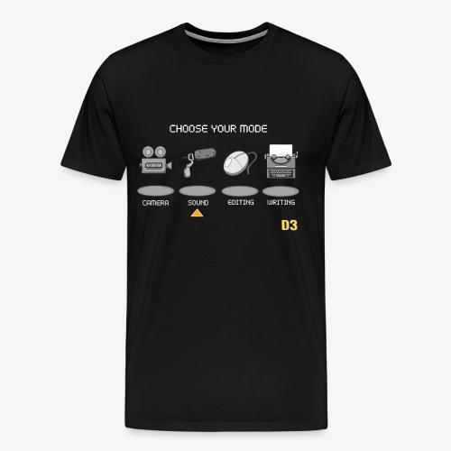 Sound/White - Choose Your Mode - Men's Premium T-Shirt