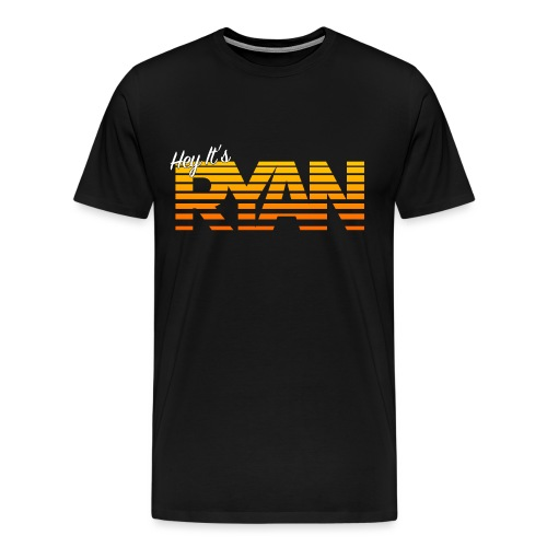 Hey It's Ryan! Orange Fade - Men's Premium T-Shirt