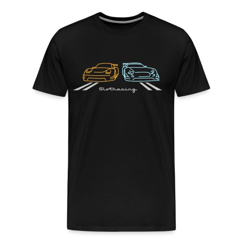 Slotracing 2 cars Version 2 - Männer Premium T-Shirt