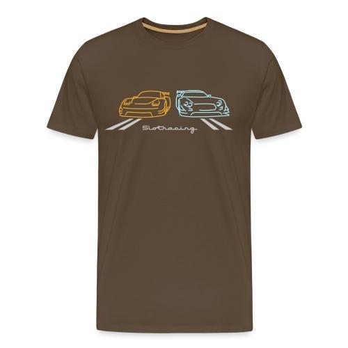 Slotracing 2 cars Version 2 - Männer Premium T-Shirt