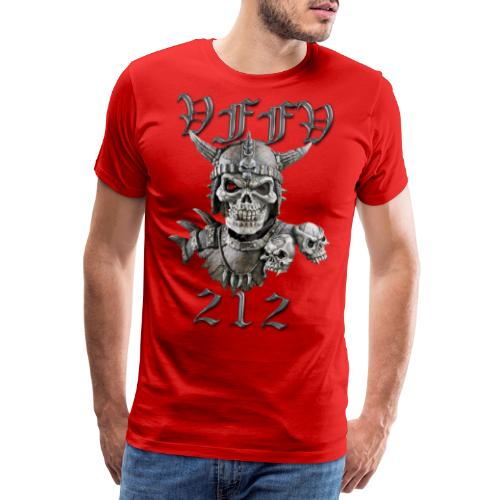 Viking skull rød stor png - Herre premium T-shirt