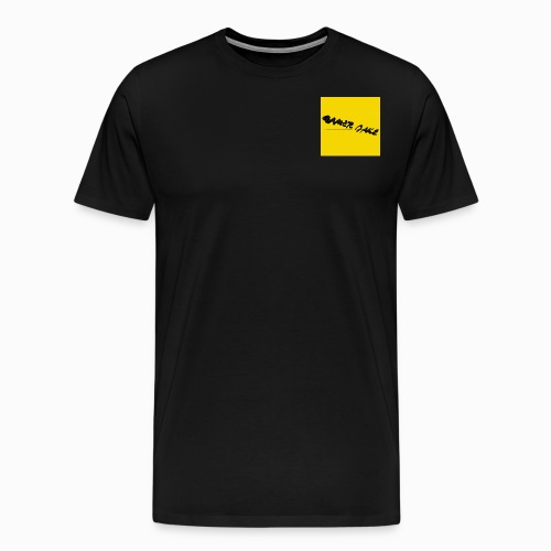 Gamer Jake black on gold logo shirt - Men's Premium T-Shirt