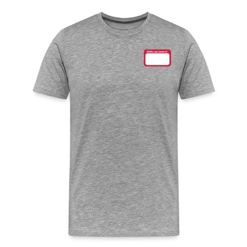 HelloMyNameTag - Maglietta Premium da uomo