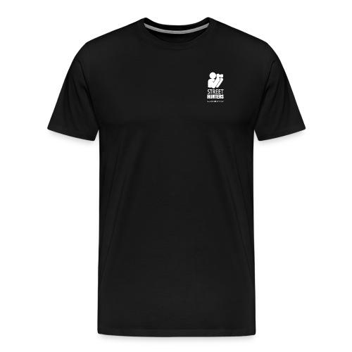 white logo transparent URL png - Men's Premium T-Shirt