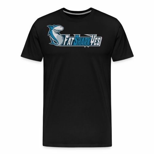 FatSharkYes logo+text - Premium-T-shirt herr