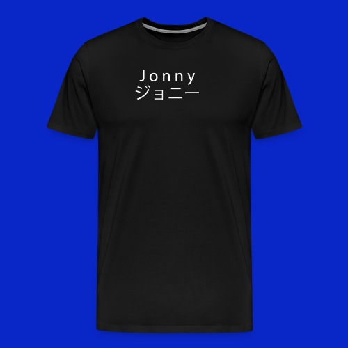 J o n n y (white on black) - Men's Premium T-Shirt