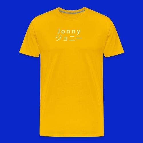 J o n n y (white on black) - Men's Premium T-Shirt