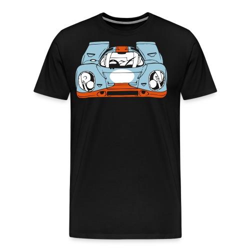 917 Bleu_Orange - T-shirt Premium Homme