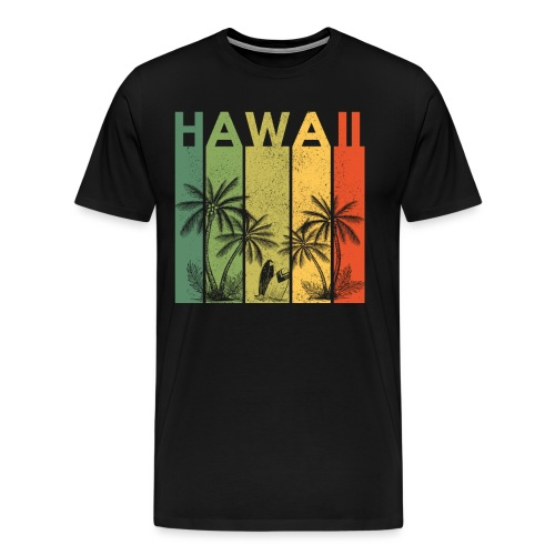 Hawaii Vintage Palmen Travel Shirt für Reisende - Männer Premium T-Shirt