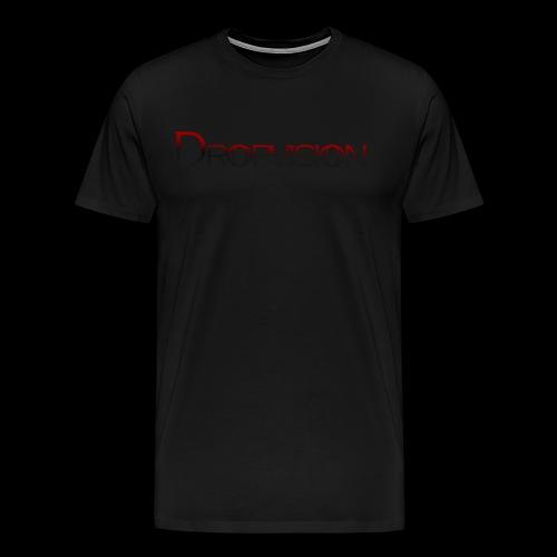 Dropvision logga röd - Premium-T-shirt herr