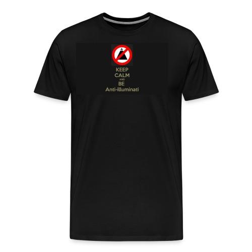 Keep calm and be anti illuminati - Men's Premium T-Shirt