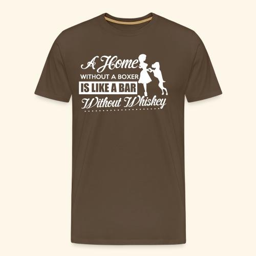 Boxer Hunde Liebhaber T-Shirt Englisch - Männer Premium T-Shirt