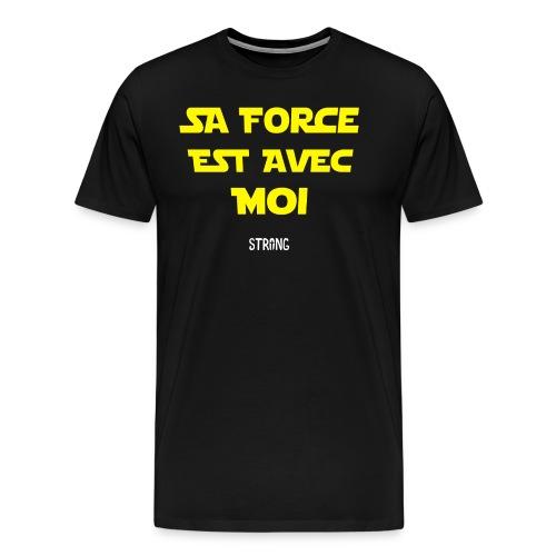 Sa force est avec moi - T-shirt Premium Homme