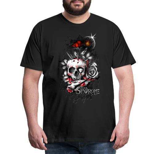 Skull with Roses - T-shirt Premium Homme