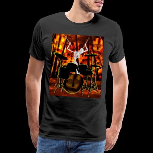 LE SQUELETTE BATTEUR - T-shirt Premium Homme
