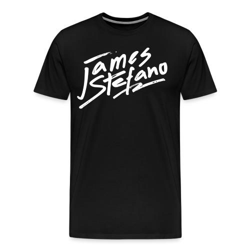 James Stefano 2017 Logo Wit - Mannen Premium T-shirt