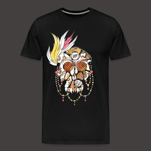 Crane dentelle Feu fond noir - T-shirt Premium Homme
