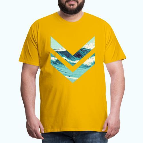 Wellenreiter rhombus - Men's Premium T-Shirt