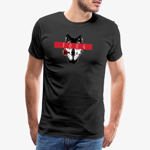 Wolf and Rose F00G - Camiseta premium hombre